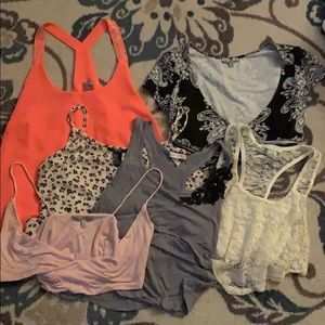 Tops - Lot of (6) club crop tops size small and medium